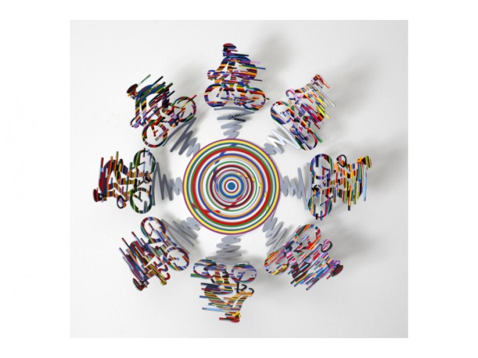 David Gerstein Cyclists Small Bowl Israeli Art