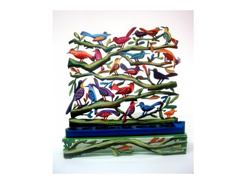 David Gerstein Birds Hanukkah Menorah