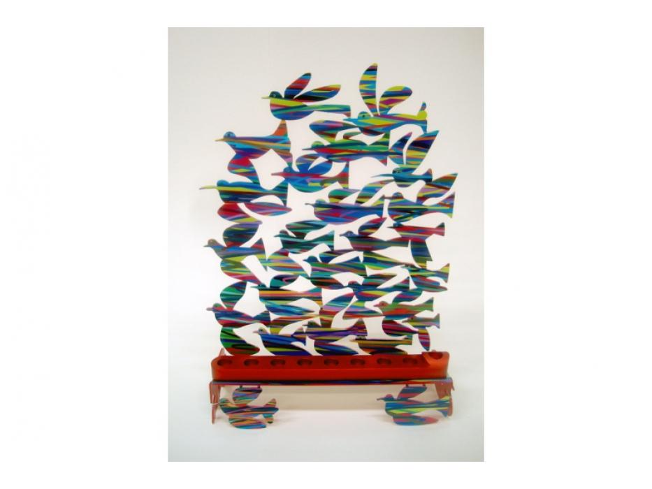David Gerstein Birds In Flight Hanukkah Menorah