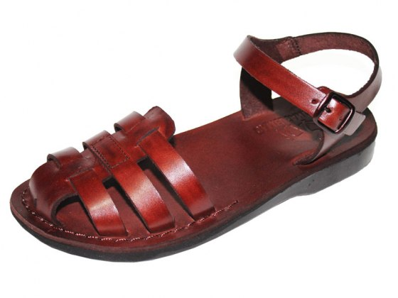 Woven Closed Toe Front Leather Sandals - Rafael