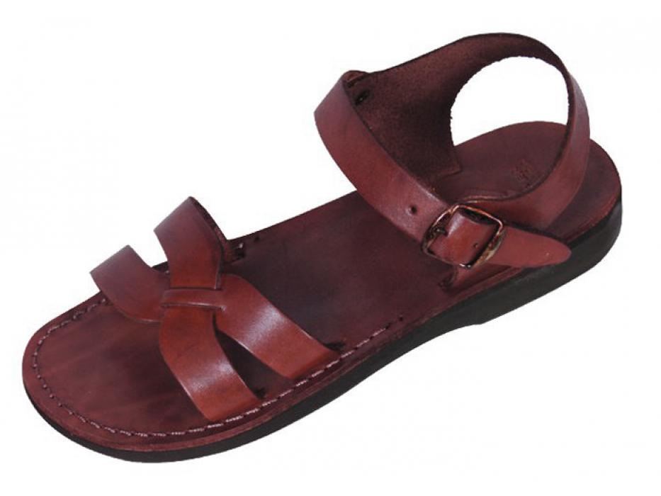 X-Strap Front Adjustable Leather Biblical Sandals - David