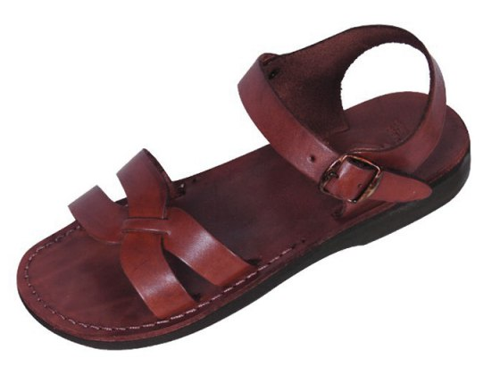 X-Strap Front Adjustable Leather Biblical Sandals - David