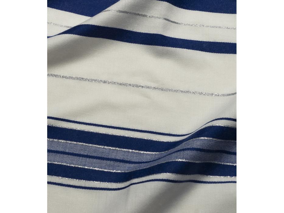 Talitania Wool Tallit Prayer Shawl with Blue and Silver Stripes