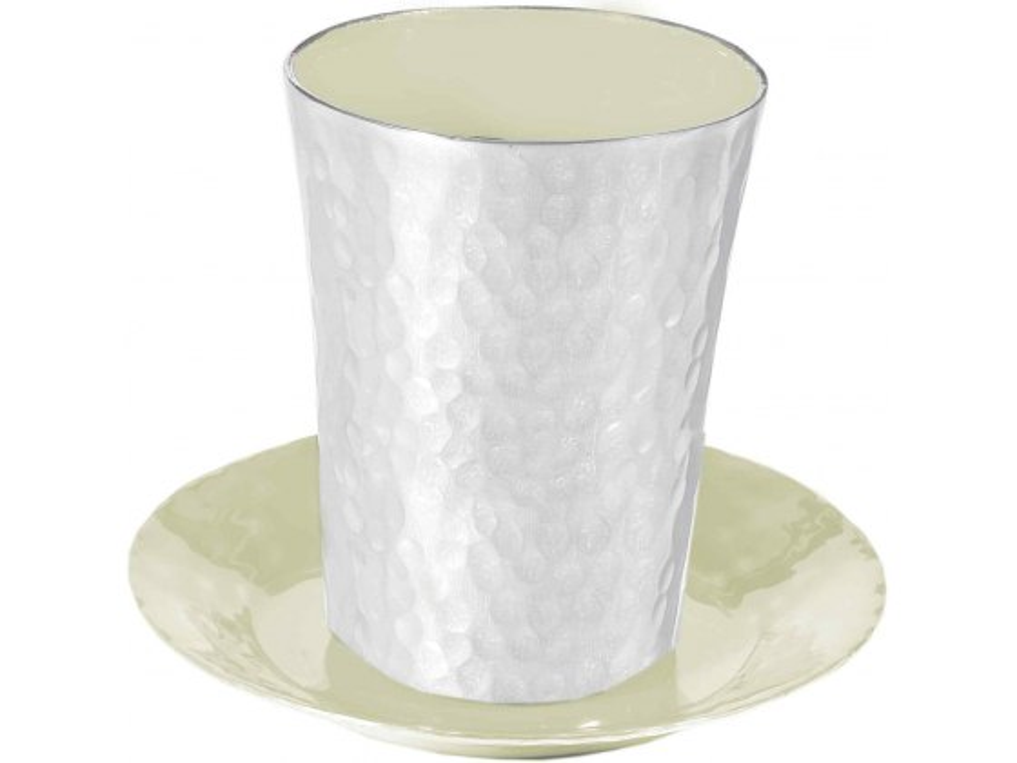 Yair Emanuel Aluminum Kiddush Cup with White Enamel