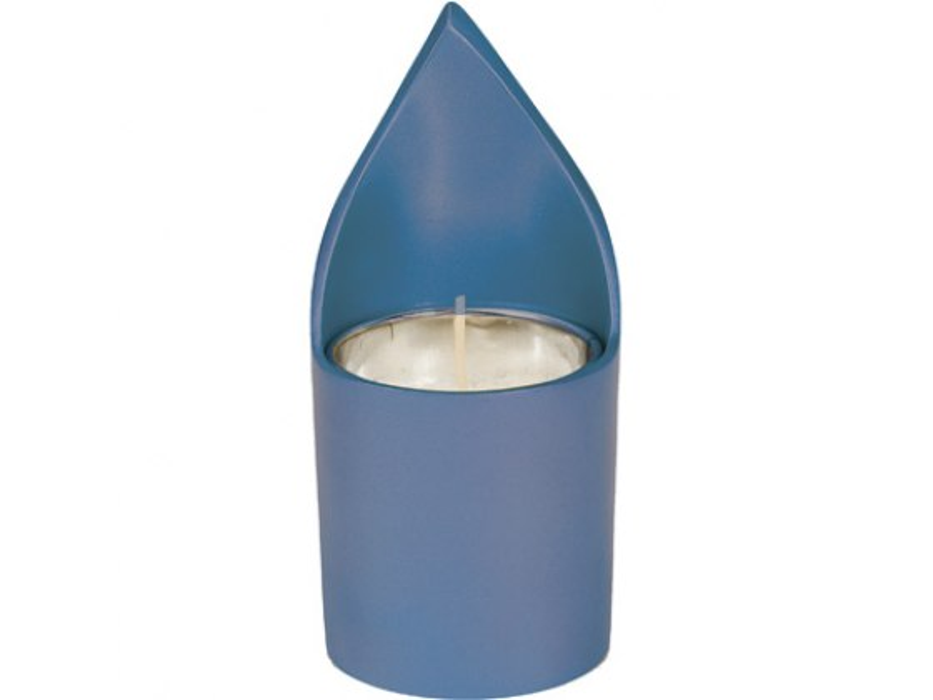 Yair Emanuel Aluminum Memorial Candle Holder Blue