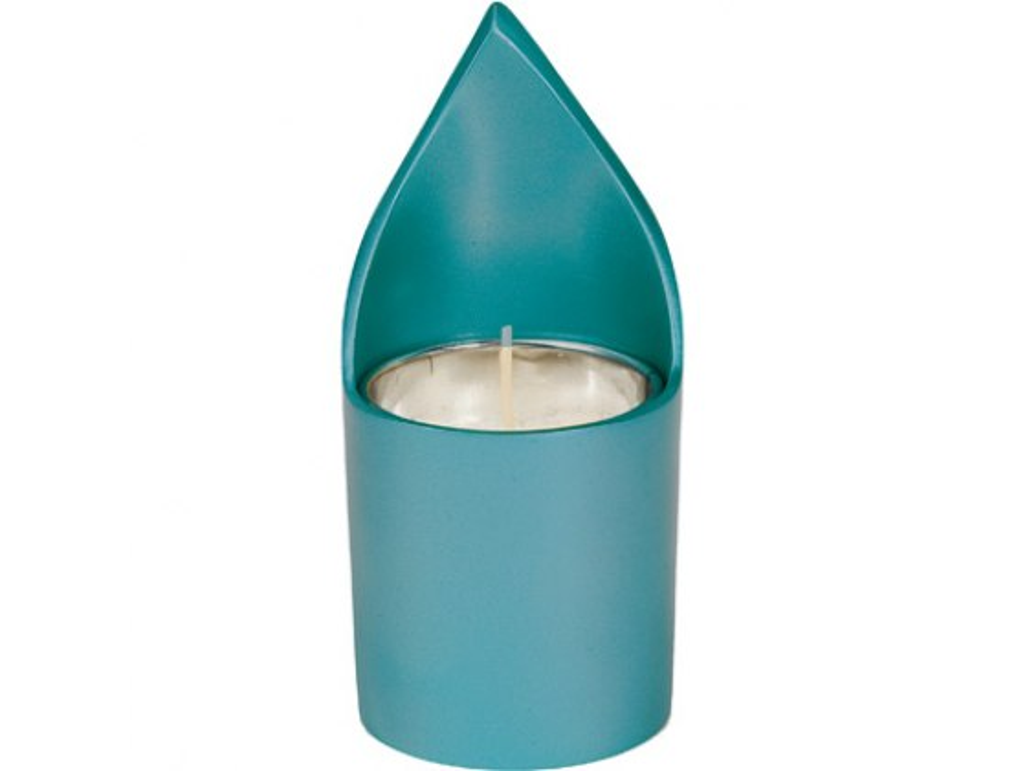 Yair Emanuel Aluminum Memorial Candle Holder Green