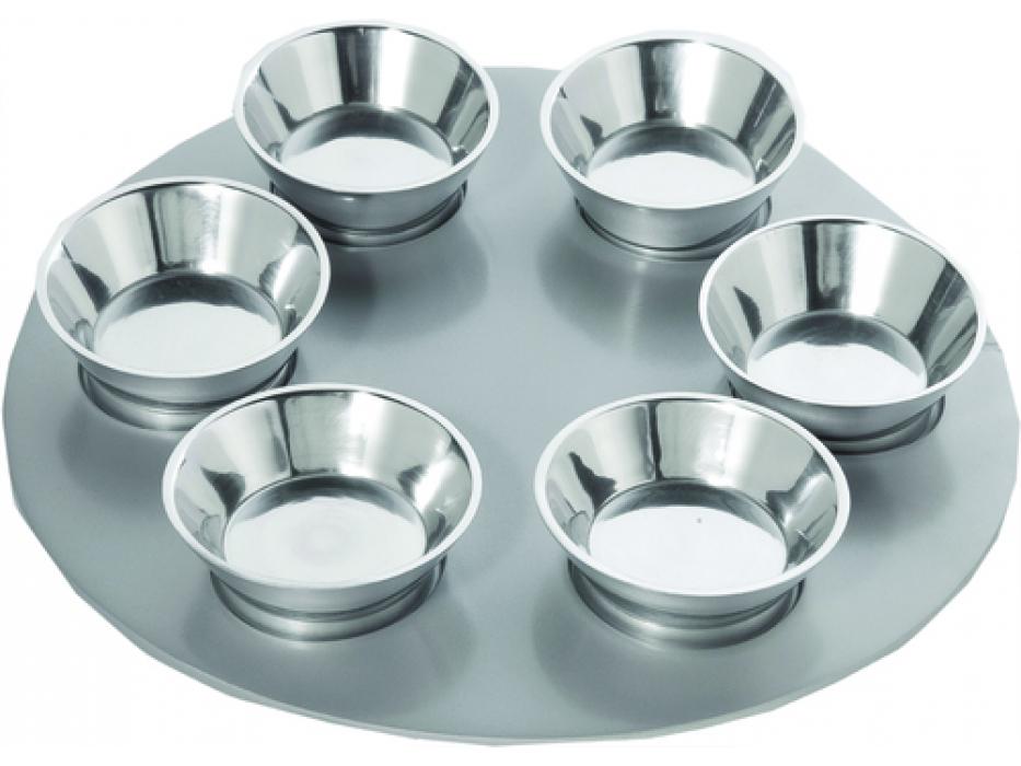 Yair Emanuel Anodized Aluminium Silver, Seder Plate