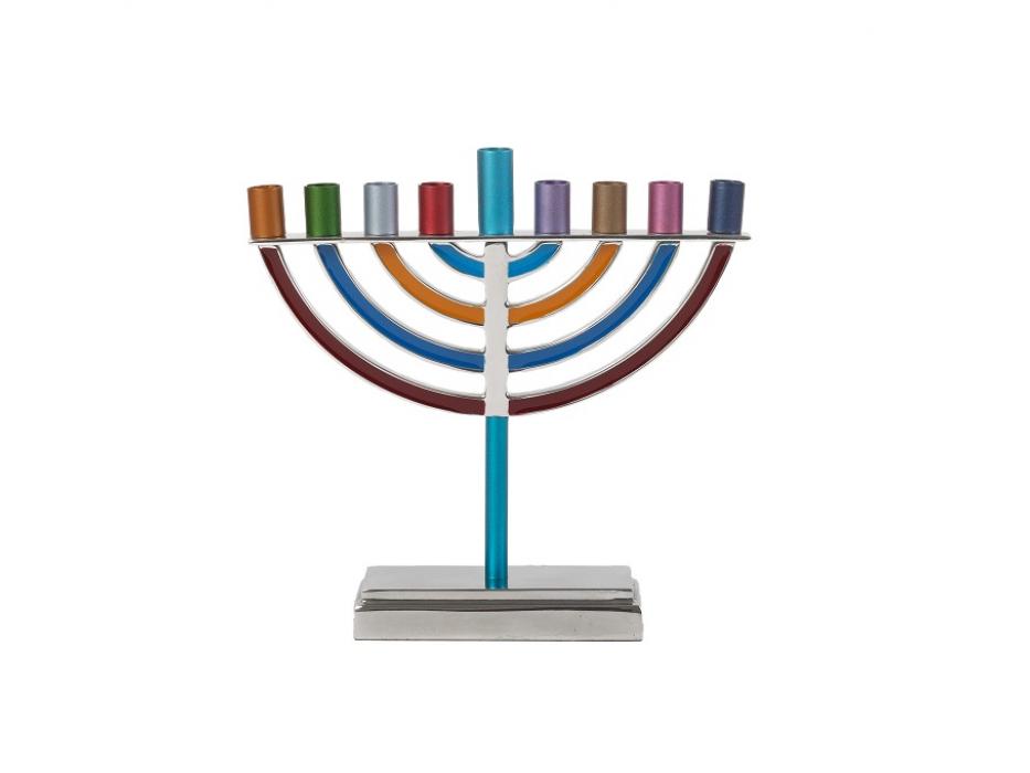 Yair Emanuel Colorful Classic Hanukkah Menorah