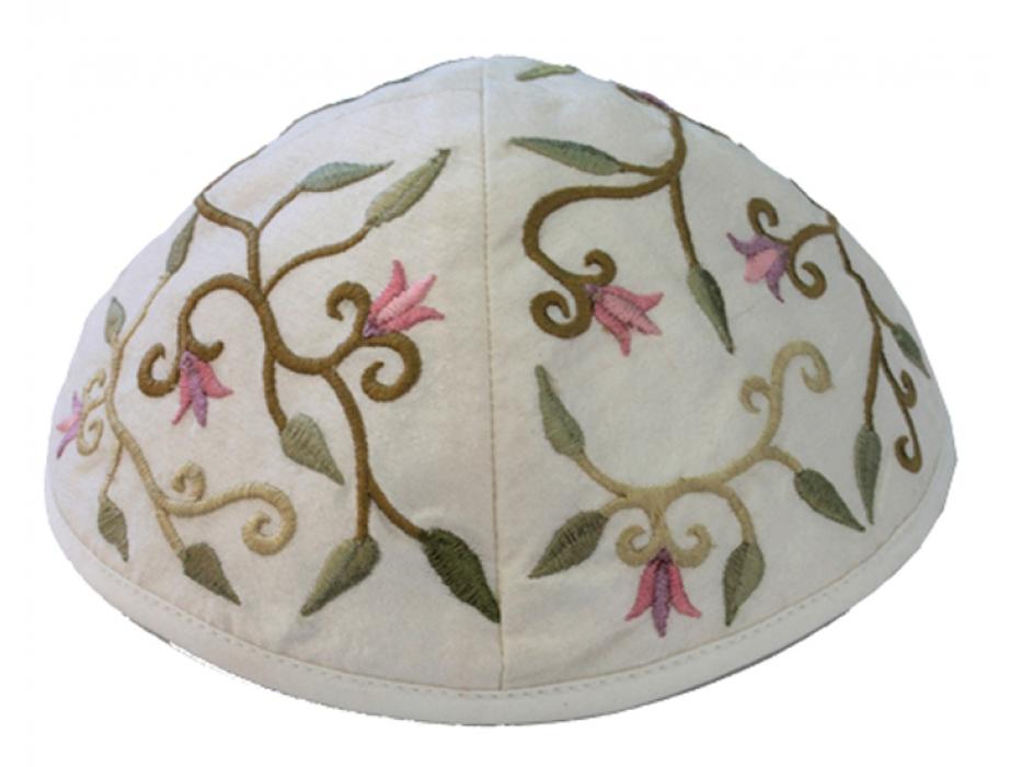 Yair Emanuel Floral Embroidered Kippah