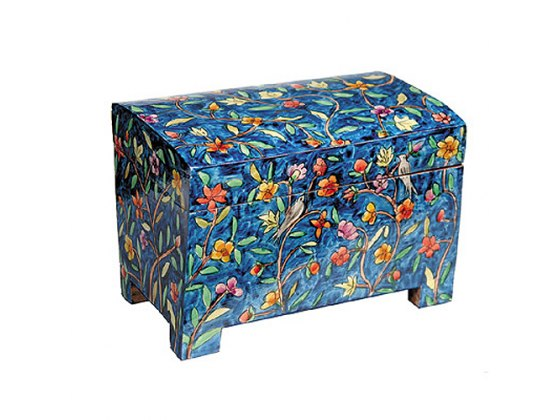 Yair Emanuel Hand Painted Wooden Etrog Box