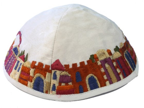 Yair Emanuel Jerusalem Embroidered Kippah