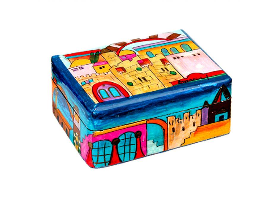 Yair Emanuel Shabbat Travel Candlestick Box Jerusalem