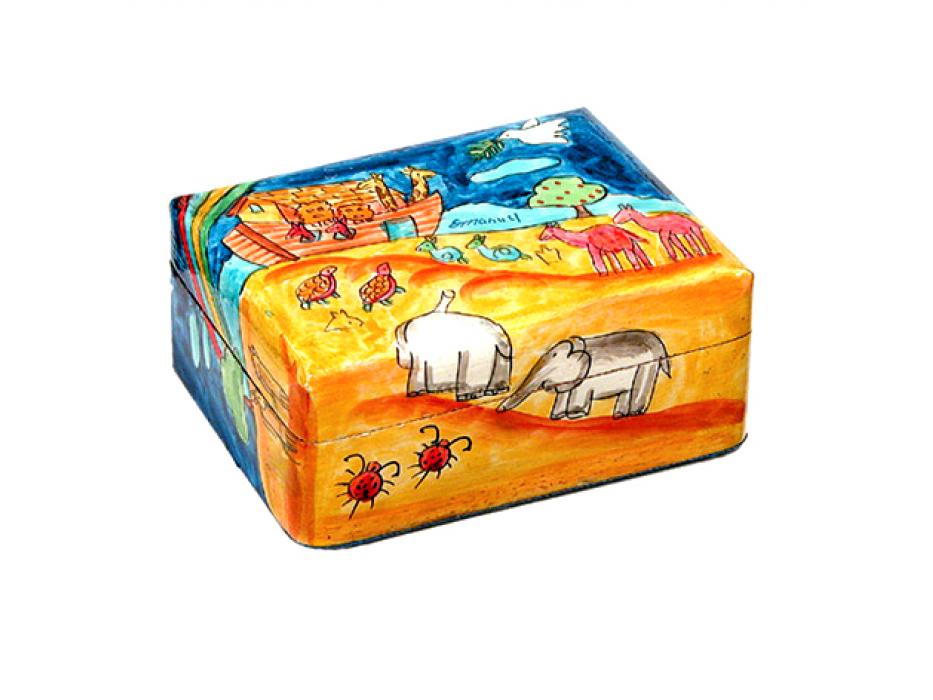 Yair Emanuel Shabbat Travel Candlestick Box Noahs Ark