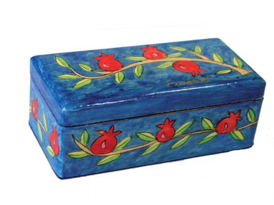 Yair Emanuel Shabbat Travel Candlestick Box Pomegranates
