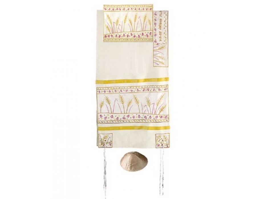 Yair Emanuel Sheaves of Wheat, Raw Silk Tallit Prayer Shawl