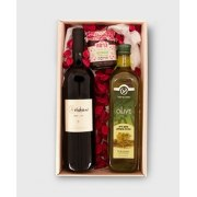 Wines Olive Oil and Charoset in Straw Basket
