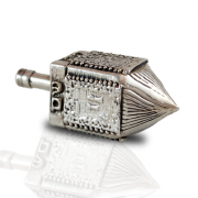 Sterling Silver Jerusalem Dreidel Big