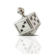 Sterling Silver Dreidel Square Dice Design
