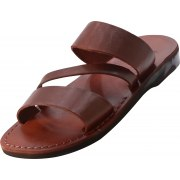 Three Strap Slip-on Handmade Leather Biblical Sandals - Caleb