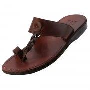 Stylish Middle Braided Strap Slip on Leather Sandals - Ayala
