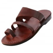 Classic Toe Strap Slip on Handmade Leather Sandals - Aviv