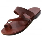 Stylish Middle Braided Strap Slip on Leather Sandals - Ayala
