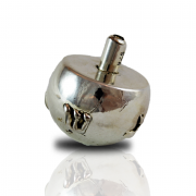 Sterling Silver Round Smooth Dreidel