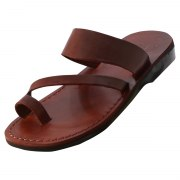 Toe Strap Slip on with Diagonal Strap Handmade Sandals - Ori