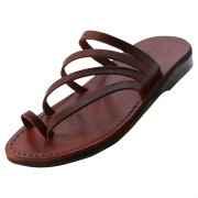 Slip on Handmade Sandals with Four Thin Straps - Tair