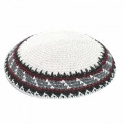 Bordeaux Black and Grey Stripes Knit Kippah