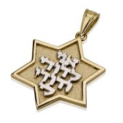 14K Gold Ani L'dodi V'dodi Li, Star of David Necklace