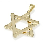 14k Gold Sticks Star of David Necklace