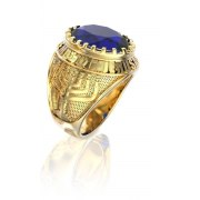 14K Gold Jerusalem Menorah Ring