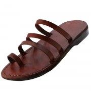 Three Strap Slip on Handmade Sandals - Avia