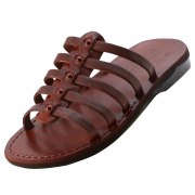 Fisherman Style Slip on Handmade Leather Sandals - Arbel