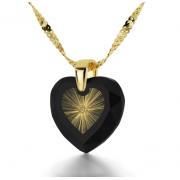 24k Gold Plated Zirconia Starburst Shema Heart Nano Jewelry