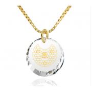 14k Gold Star of David Shema Yisrael Zirconia Nano Jewelry