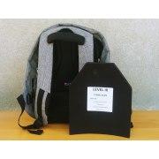 Level III Kids  Bulletproof Backpack  Insert Ultra-light (Rifle Protection)