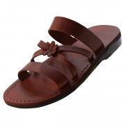 Clone of Orange Flower Toe Strap Israeli Handmade Leather Sandals