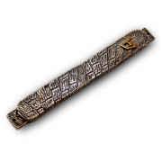 Sterling Silver Western Wall Mezuzah with Gold Shin