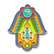 3 Dimentional Colorful Hamsa Magnet
