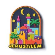 3 Dimentional Colorful Jerusalem Night Magnet