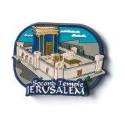3 Dimentional Colorful Second Temple Magnet
