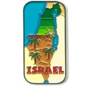 3 Dimentional Metal Map of Israel Magnet