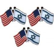 3 Israel-USA flag Lapel pins