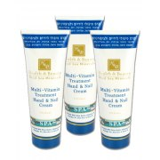 Dead Sea Minerals Multi-Vitamin Hand & Nail Cream, 3 x 100ml