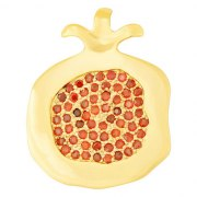 Marina Jewelry Gold Filled Pomegranate Pendant With Many Garnet Seeds
