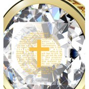 Psalm 23 on Zirconia and Gold Plated Frame