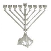 Hanukkah Menorah Nickel Chabad Style Straight Branches