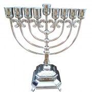 Hanukkah Menorah Nickel With Ornate Decorations